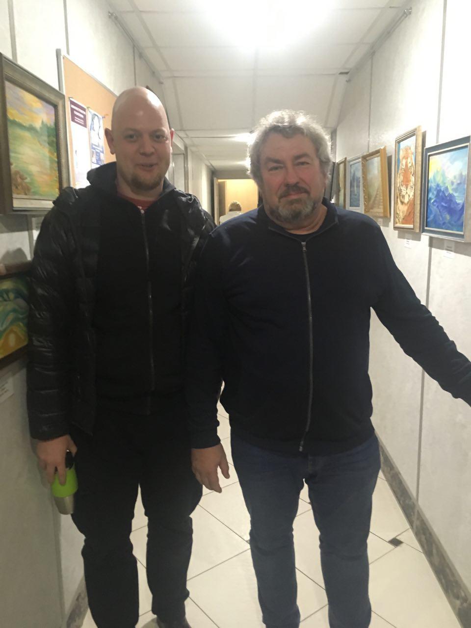Василий Смирнов с Владимиром Антоновичем Доморацким